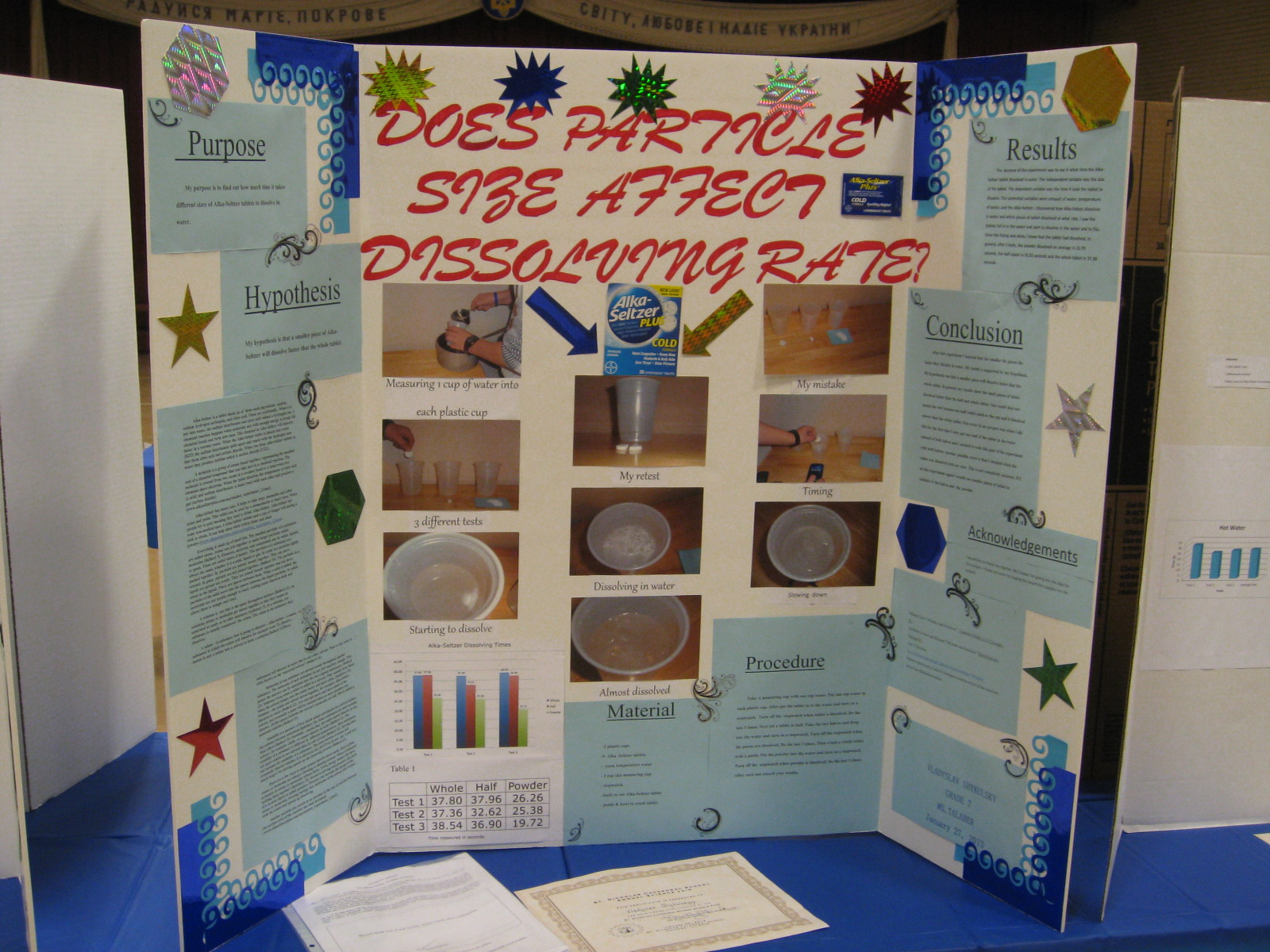 easy 7th grade science fair projects